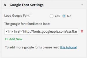Google Font Settings