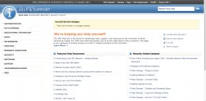 non-responsive help.unc.edu desktop site